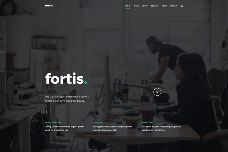 Fortis – Creative Digital Agency WordPress Theme