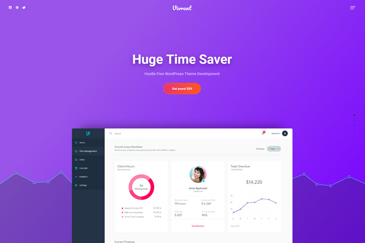 Vibrant – SaaS WordPress Theme