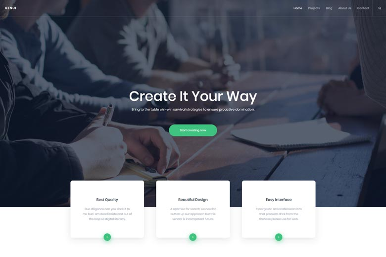 Genui – Free Digital Agency WordPress Theme