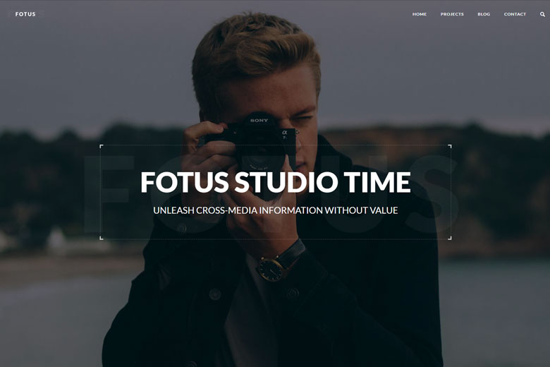 Fotus – Free Photographer Porfolio WordPress Theme