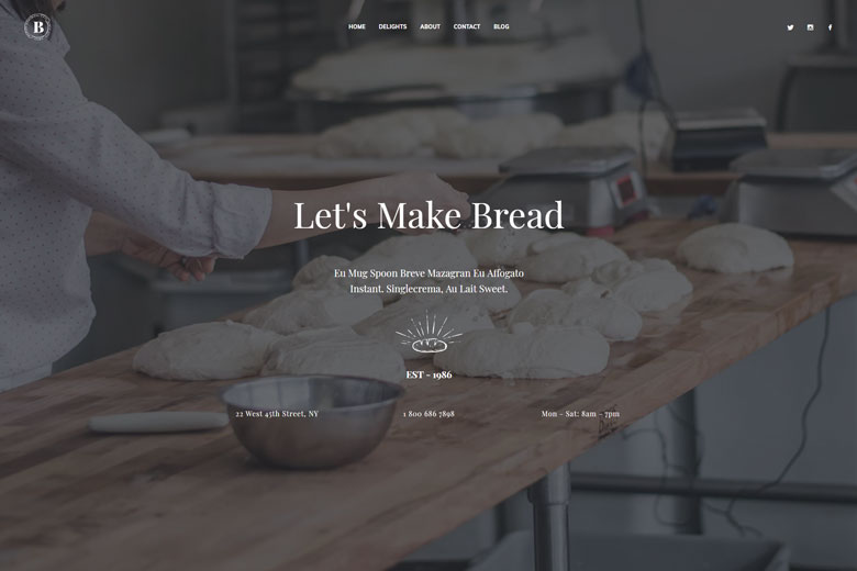 Bakerio – Modern Bakery WordPress Theme