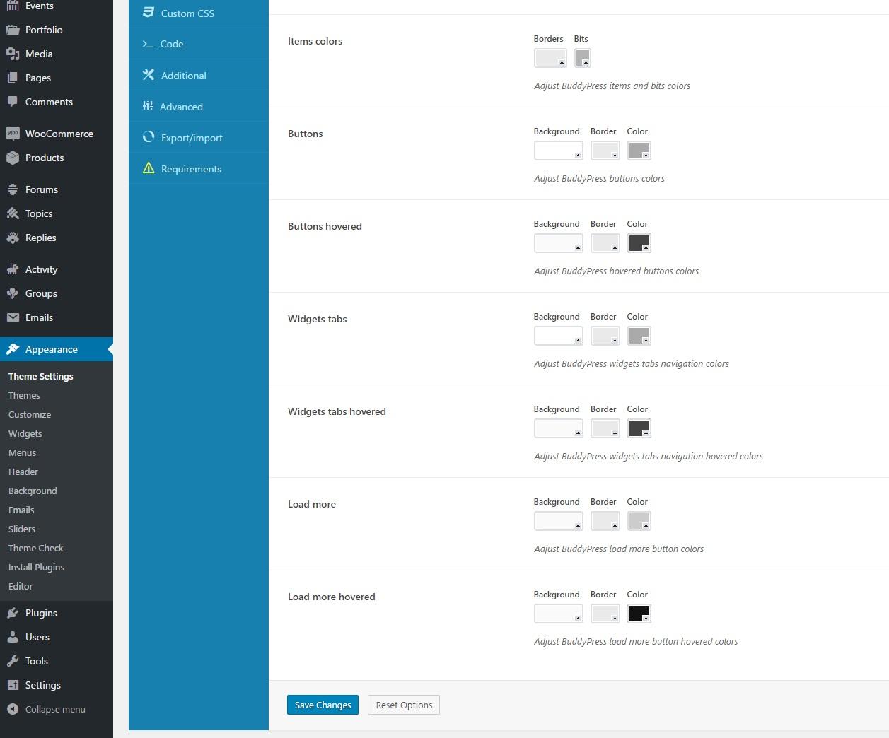 bb & BuddyPress options | Themezly™