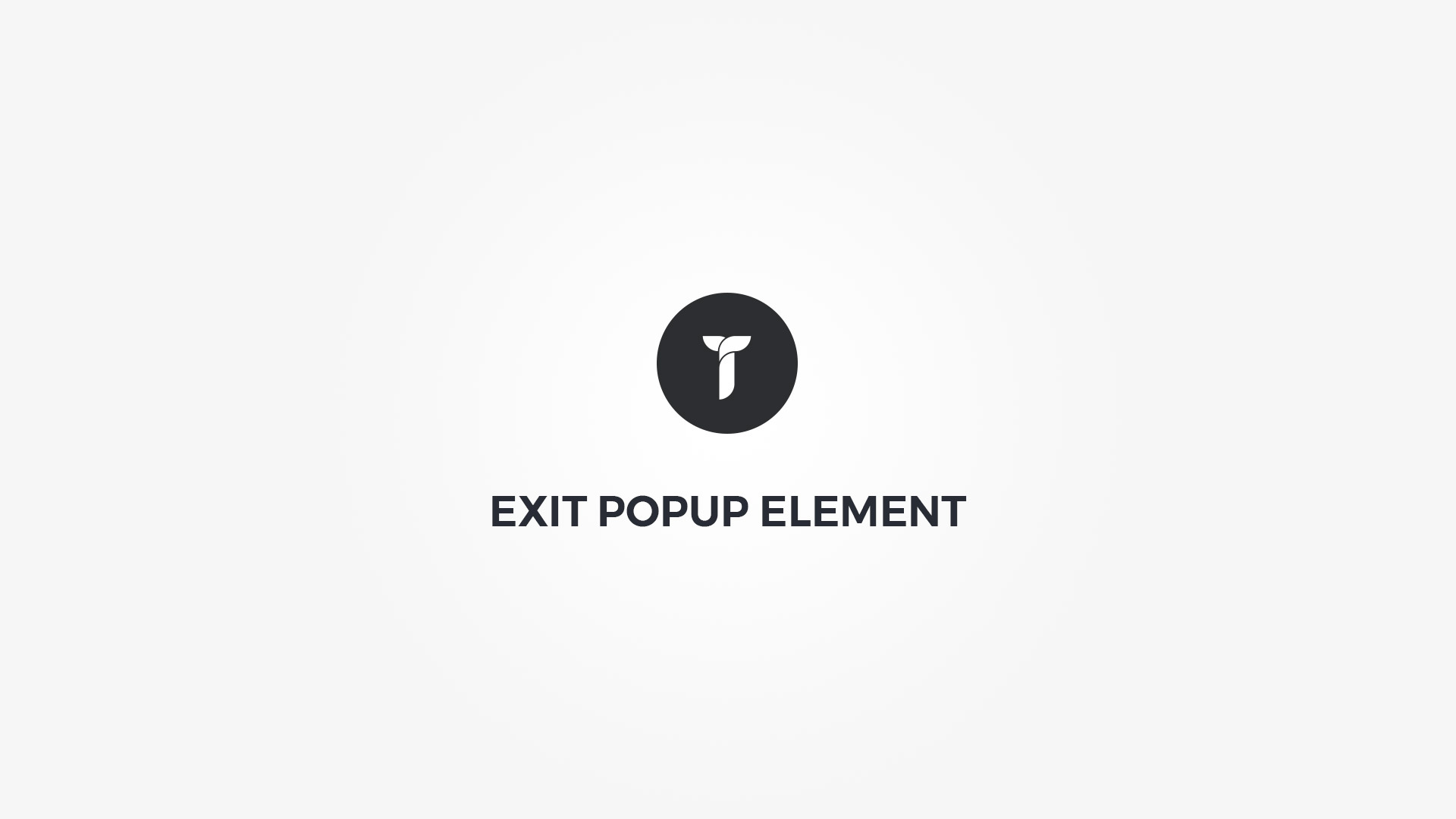 Creatus WordPress Theme Exit Popup Element