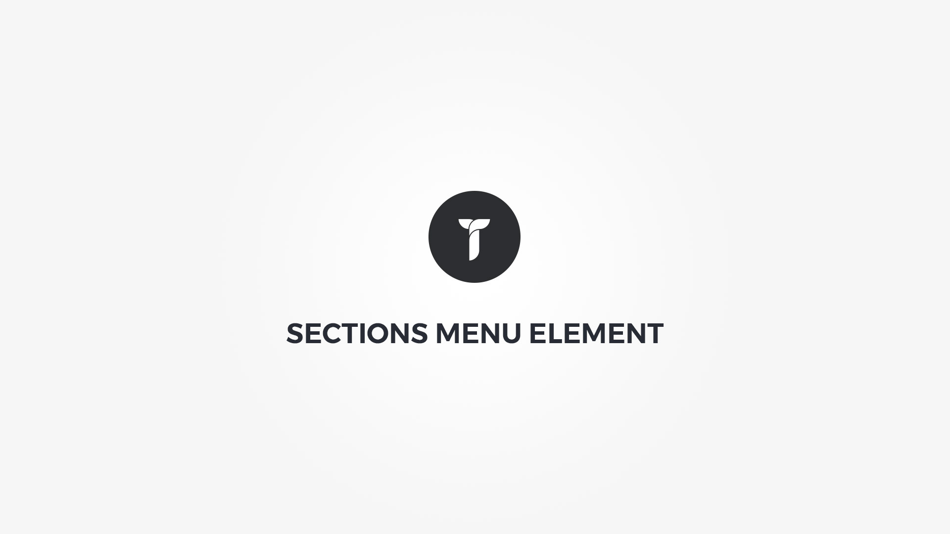 Creatus WordPress Theme Sections Menu Element