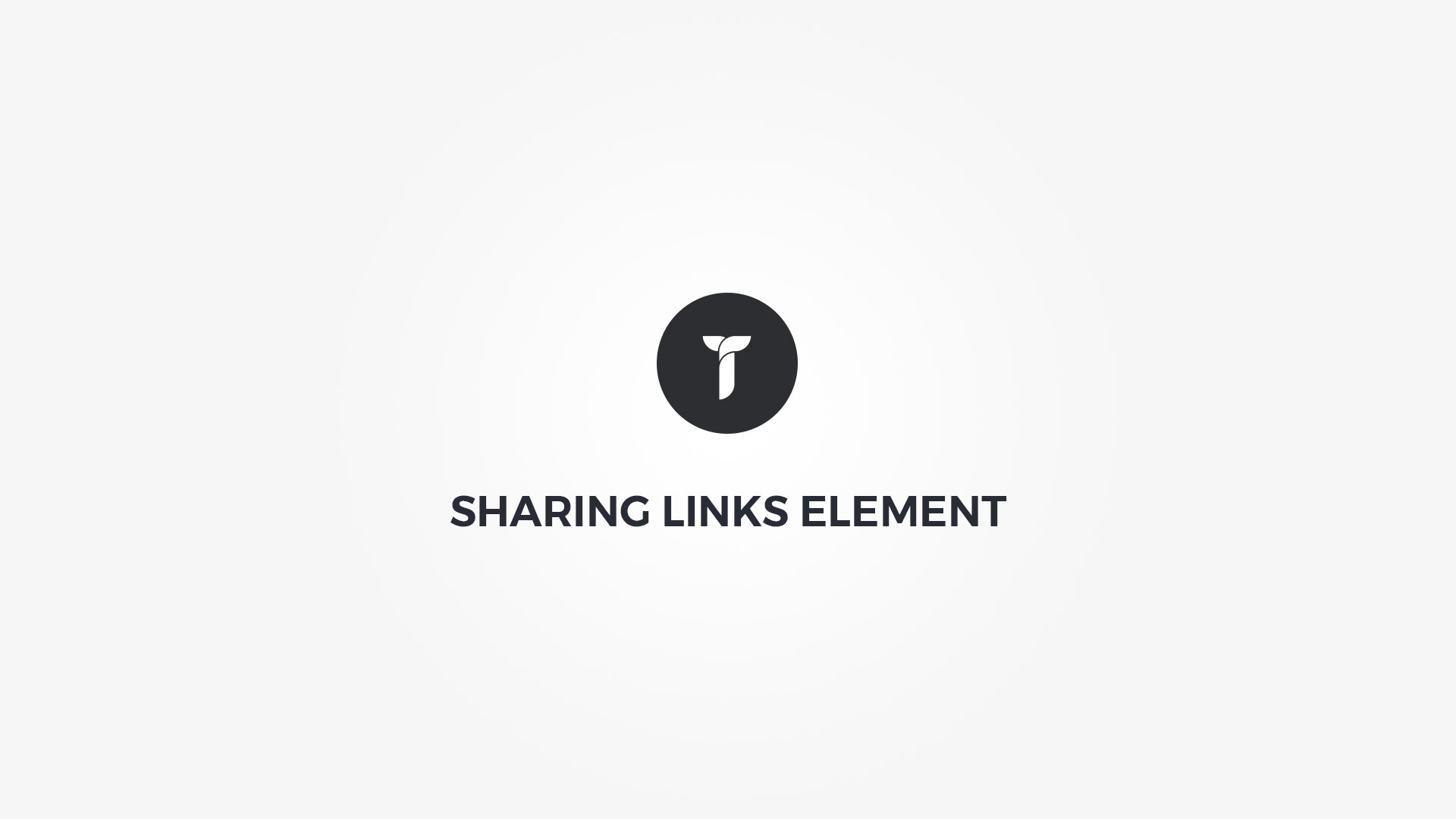 Creatus WordPress Theme Sharing Links Element